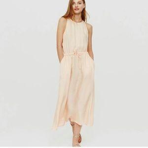 Lou and grey midi peach dress